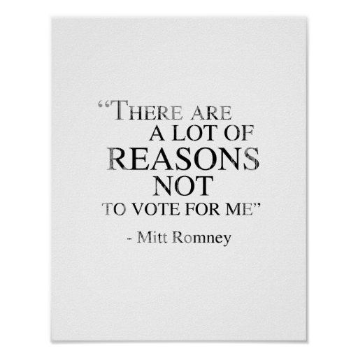There are a lot of reasons not to vote for me Fade Poster