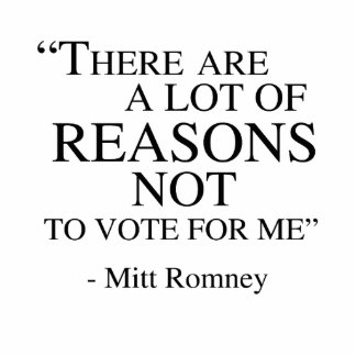 There are a lot of reasons not to vote for me photo sculpture