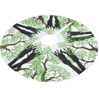 There are Giraffes in Your Tree Brushed Polyester Tree Skirt