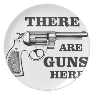 there are gun here plate