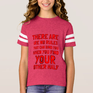 """There are No Rules"" Girls' Sports Shirt"