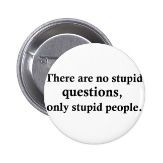 There are no stupid questions pinback buttons