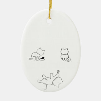 There are only three things a woman cant res ceramic oval ornament