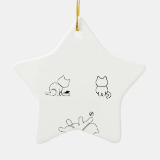 There are only three things a woman cant res ceramic star ornament