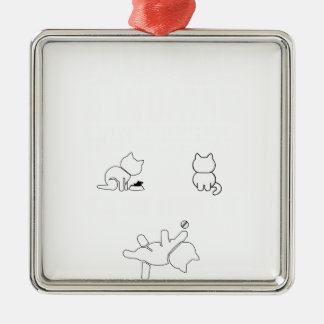 There are only three things a woman cant res Silver-Colored square ornament