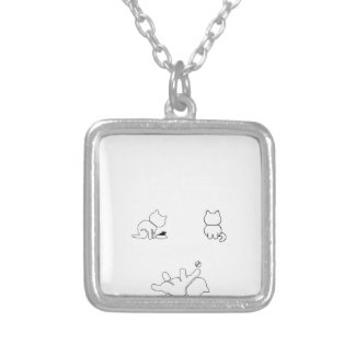There are only three things a woman cant res silver plated necklace