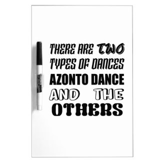 There are two types of Dance  Azonto dance and oth Dry Erase Board