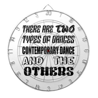There are two types of Dance  Contemporary dance a Dartboard