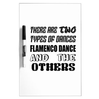 There are two types of Dance  Flamenco dance and o Dry Erase Board