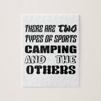 There are two types of sports Camping and others Jigsaw Puzzle