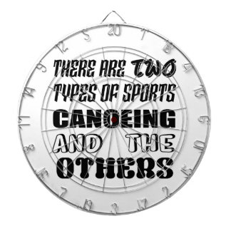 There are two types of sports Canoeing  and others Dartboard