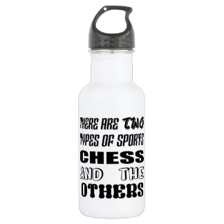 There are two types of sports Chess and others 532 Ml Water Bottle