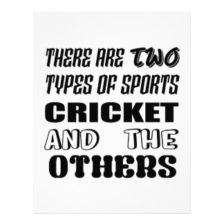 There are two types of sports cricket and others letterhead