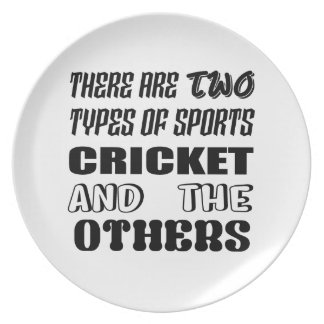 There are two types of sports cricket and others plate