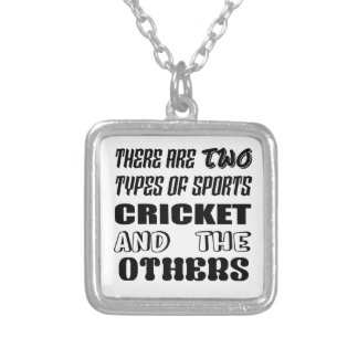 There are two types of sports cricket and others silver plated necklace