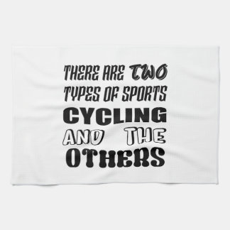 There are two types of sports Cycling and others Kitchen Towel