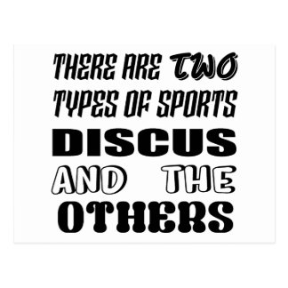 There are two types of sports Discus and others Postcard