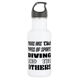There are two types of sports Diving and others 532 Ml Water Bottle