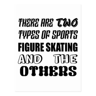 There are two types of sports Figure Skating and o Postcard