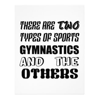 There are two types of sports Gymnastics and other Letterhead