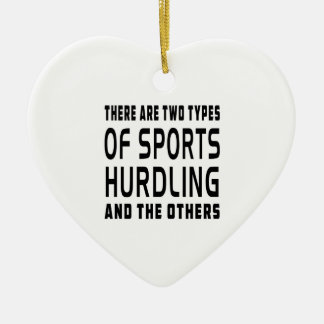 There Are Two Types Of Sports Hurdling Ceramic Ornament