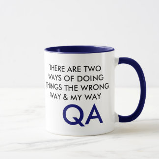THERE ARE TWO WAYS OF DOING THINGSTHE WRONG WAY... MUG