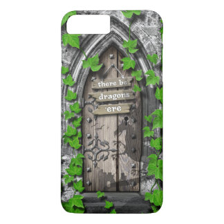 There be Dragons King Arthur Medieval Dragon Door iPhone 8 Plus/7 Plus Case