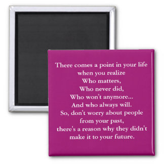 There comes a point in your life when you reali... magnet