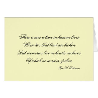 There comes a time... card