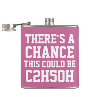 There Is A Chance This Could Be C2H5OH Hip Flask