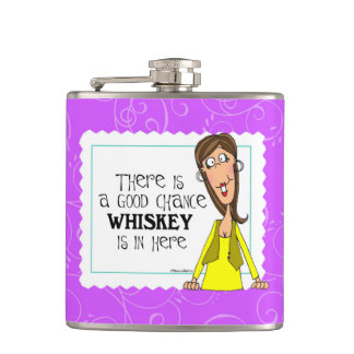 There is a good chance whiskey is in here hip flask