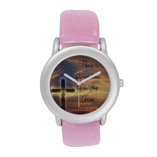 There Is Always Time Ladies Pink Glitter Watch