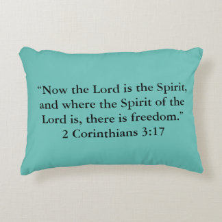 """There is freedom"" Scripture Accent Pillow"