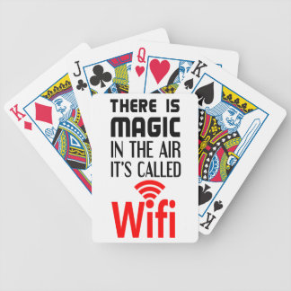 There is Magic In the air it's called wifi Bicycle Playing Cards