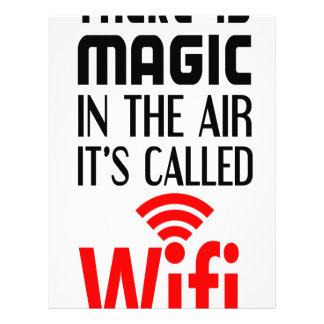 There is Magic In the air it's called wifi Letterhead
