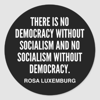 There is No Democracy without Socialism Sticker