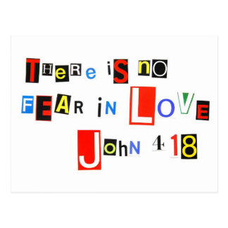 There is no fear in love postcard