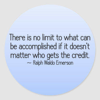 There is no limit to what can be accomplished round sticker
