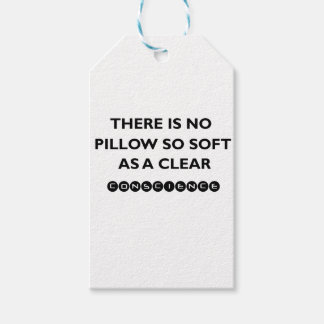 there is no pillow so sofe as a clear conscience gift tags