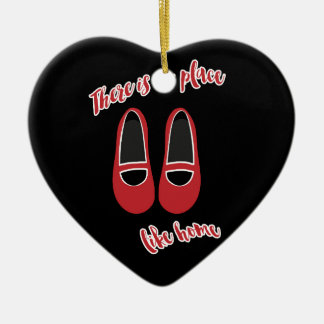There is no place like home ceramic heart ornament