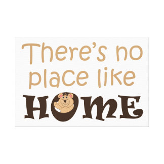 There is no place like home quote design for kids gallery wrapped canvas