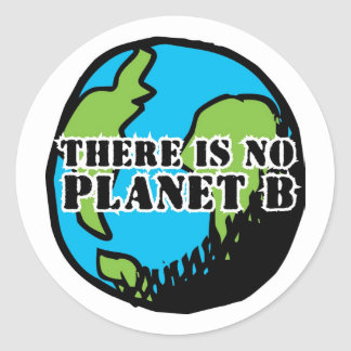 THERE IS NO PLANET B CLASSIC ROUND STICKER
