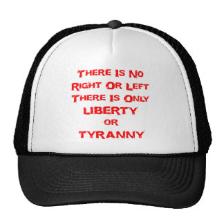 There Is No Right Or Left There Is Only Liberty Or Hat