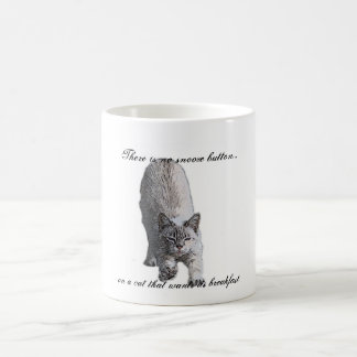 There is no snooze button..., on a cat t... coffee mug