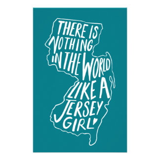 There Is Nothing In The World like A Jersey Girl Personalized Stationery