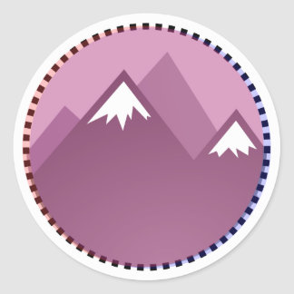 there sierra round sticker