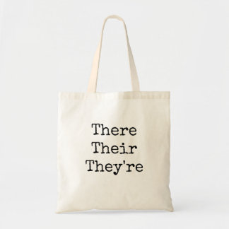 """There Their They're - """"Typed in Vintage Typewriter Tote Bag"""