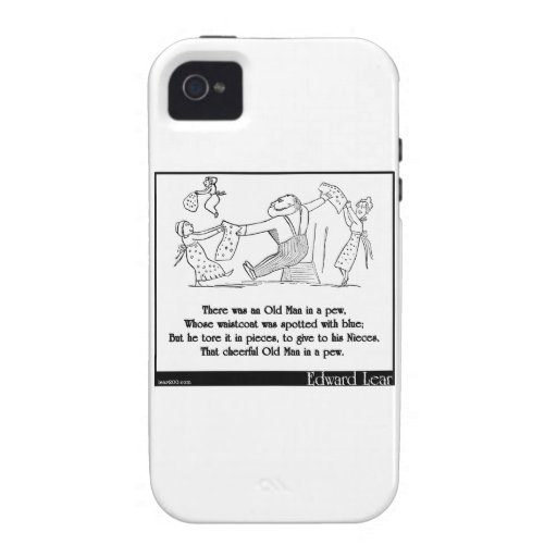 There was an Old Man in a pew iPhone 4 Covers
