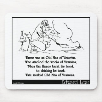 There was an Old Man of Vesuvius Mouse Pads