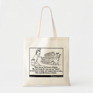 There was an Old Person of Sparta Budget Tote Bag